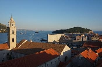 Vue des remparts Dubrovnik, Croatie